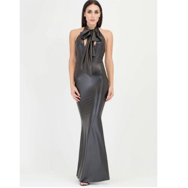 Long Leather Dress