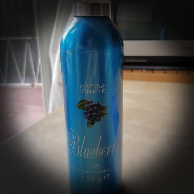 Marks & Spencer great smelling blueberry talc