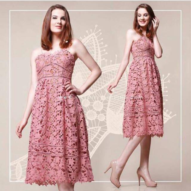 Midi Dress In Pink