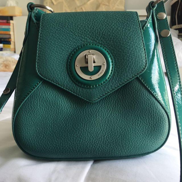 MIMCO SML Turquoise/Teal Across Body Bag
