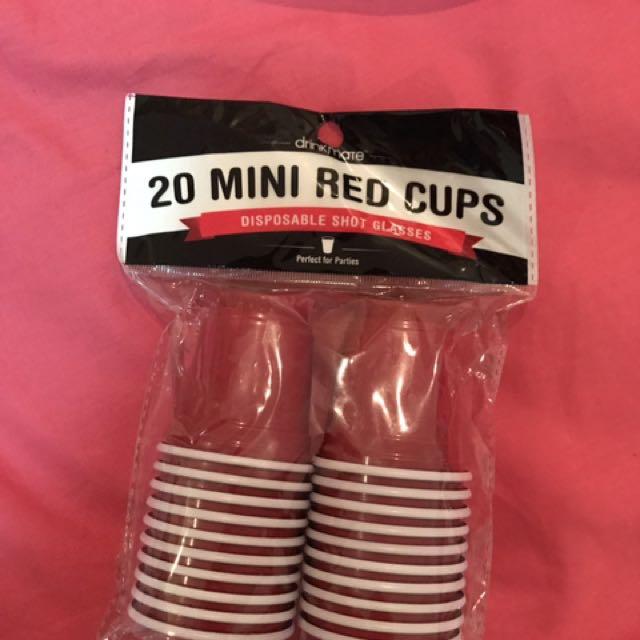 Mini Red Cups