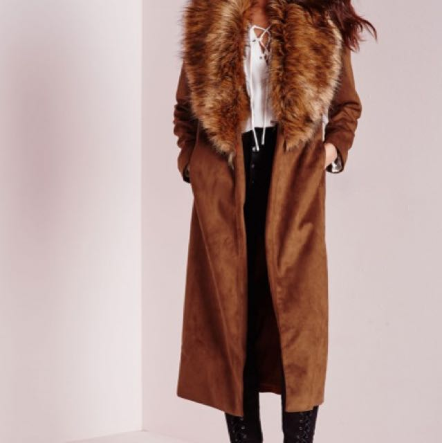 Missguided Coat with Fur