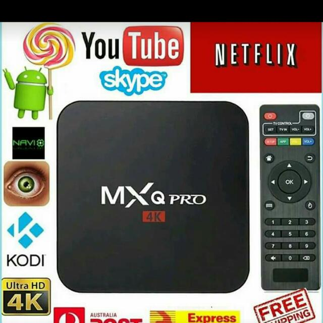 MXQ Pro 4k Smat Tv Box Kodi