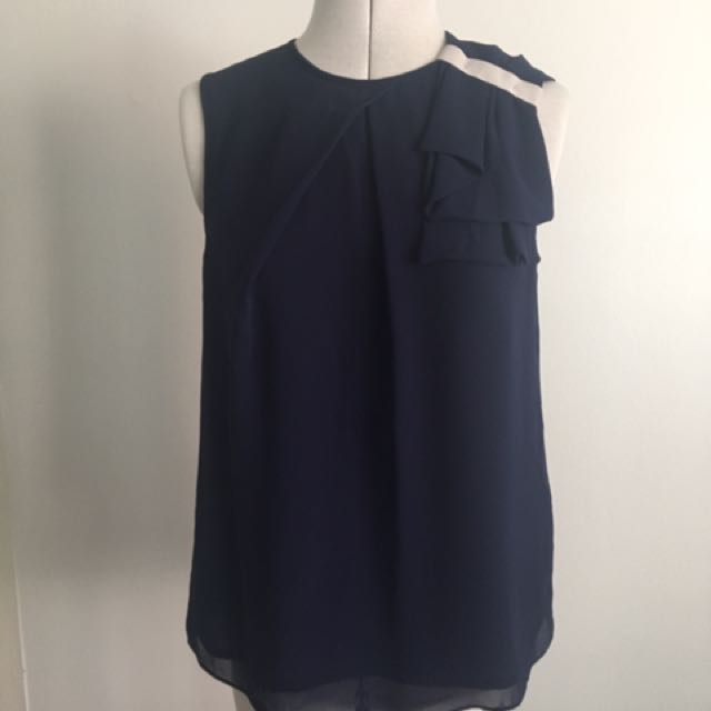 Nautical Style Top With Shoulder Detail
