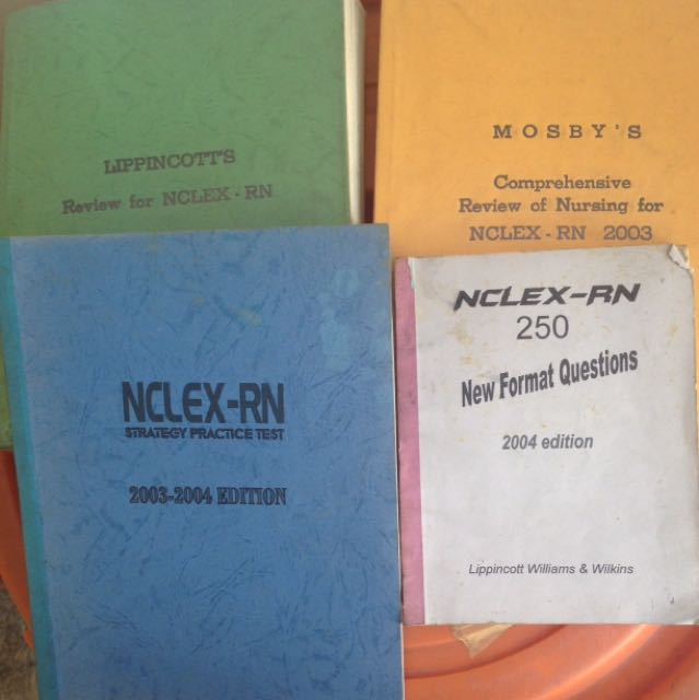 NCLEX Nursing Reviewers 4 Pcs