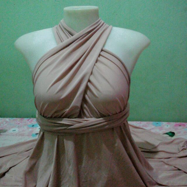 Nude Color Infinity Dress - Used Once