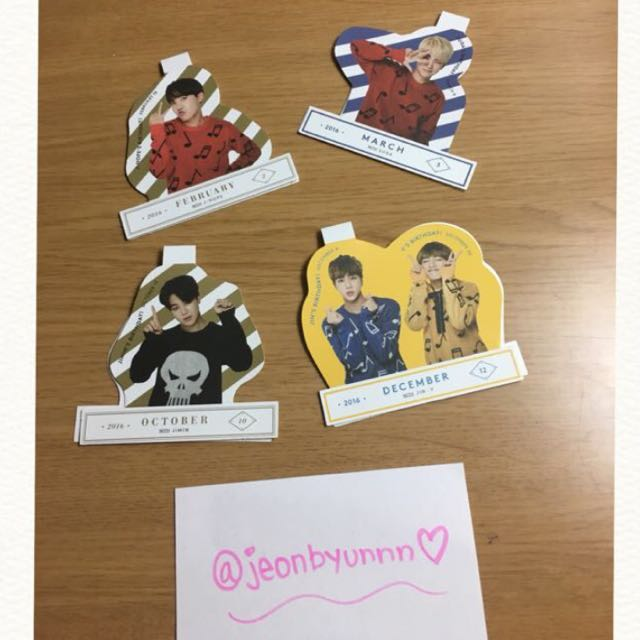 OFFICIAL BTS SEASON GREETING POP UP STICKERS