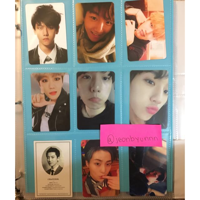OFFICIAL EXO PHOTO CARDS