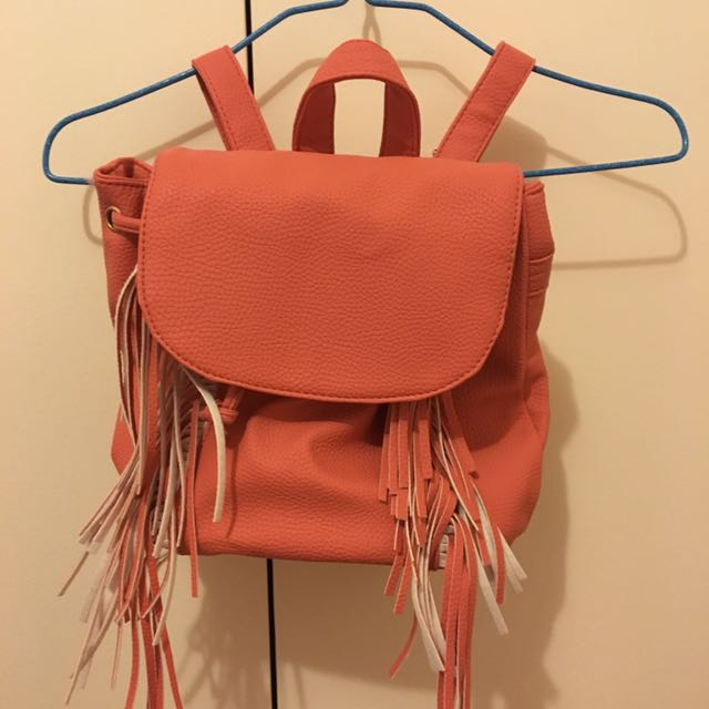 Pavement Coral Leather Backpack