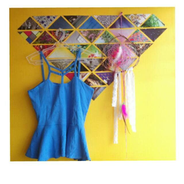 Peplum Top (Baby Blue)