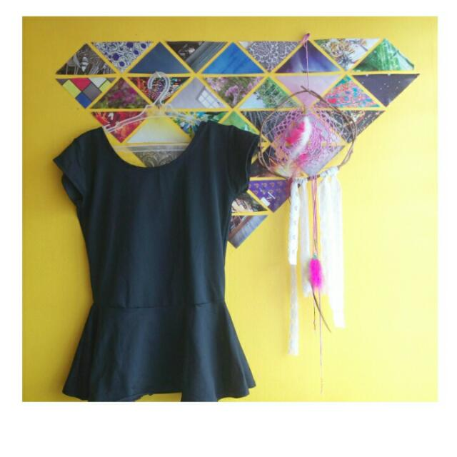Peplum Top (Black)