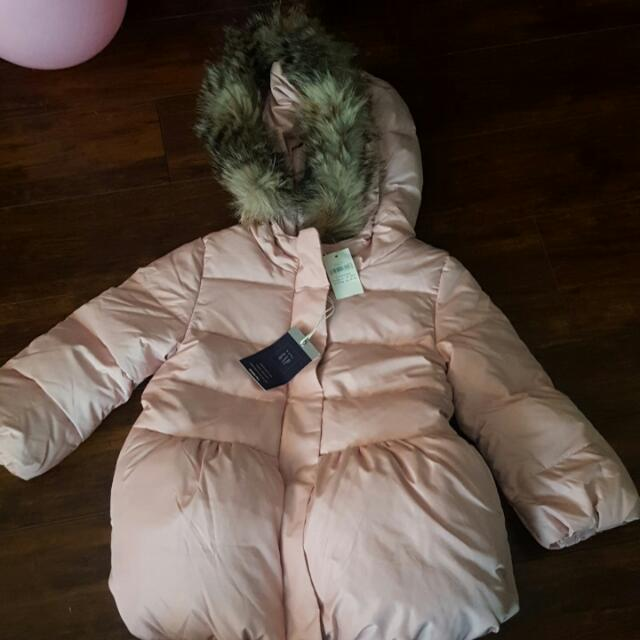 Pink Baby Gap Downfill Winter Coat