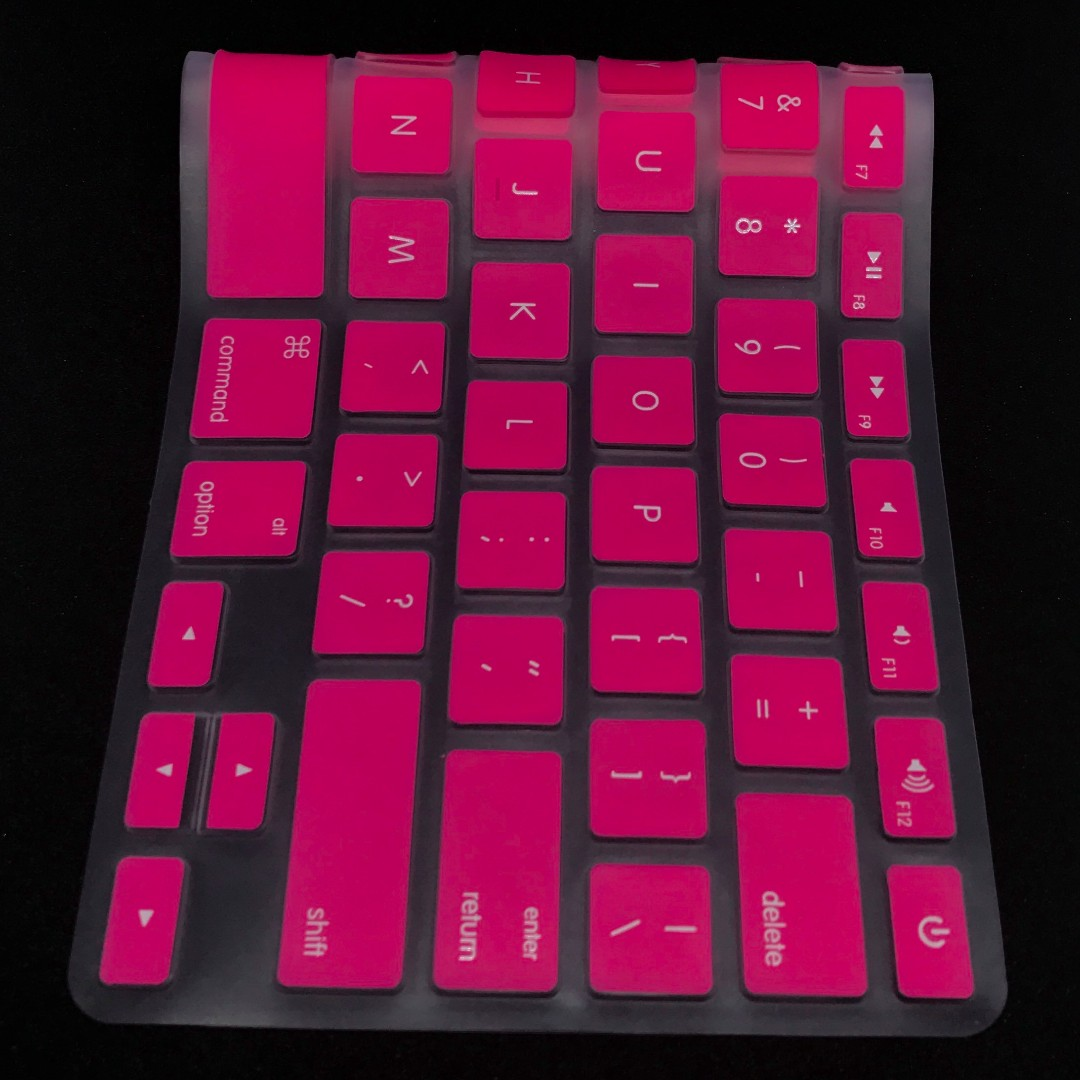 outlet store ad014 9b5a0 Pink Keyboard Protector / Silicone Cover for the 13'' - 15'' Macbook series