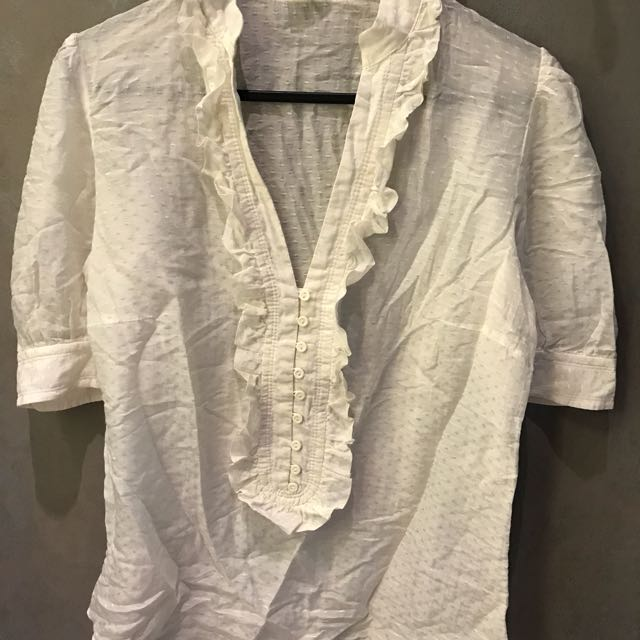 Preloved ZARA Embossed Cotton Shirt