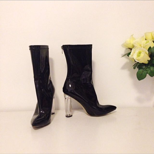 PU Leather Boots - Ladies Size 8