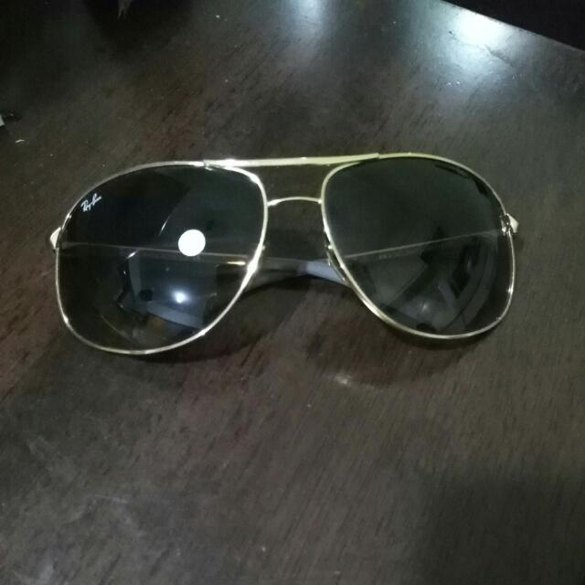 Ray-Ban RB 3387 Gold Frame with Brown Gradient Lenses