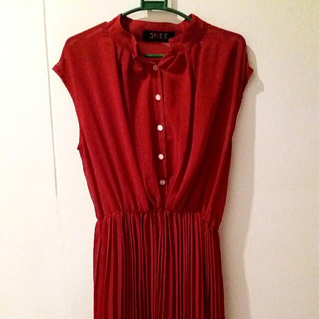 Red Button Up Dress