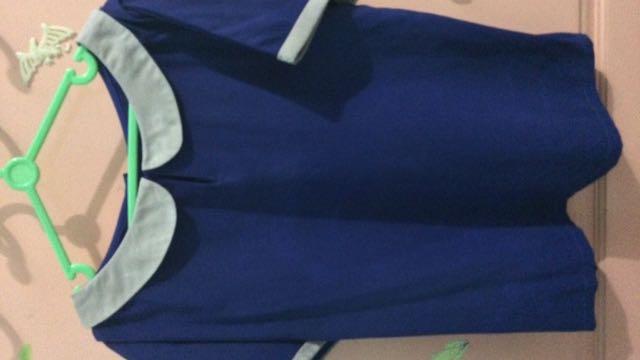 #jatuhharga - Atasan Collar Blue