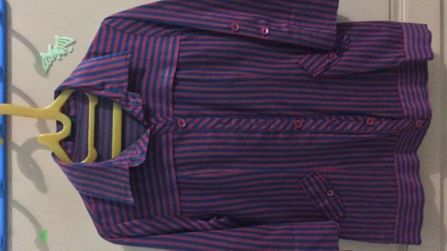 #jatuhharga - Atasan Stripe Red Purple
