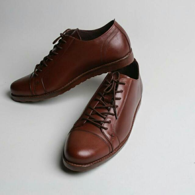 Sepatu Kulit Casual Boston Porto Brown