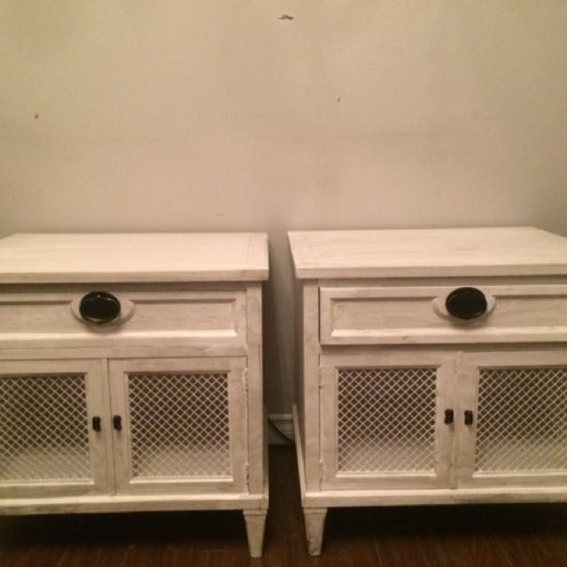Shabby Chic, French Provincial Style Night Stands