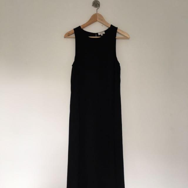 Silky Black Maxi Dress / Size XXS / Brand: Wilfred (Aritzia)