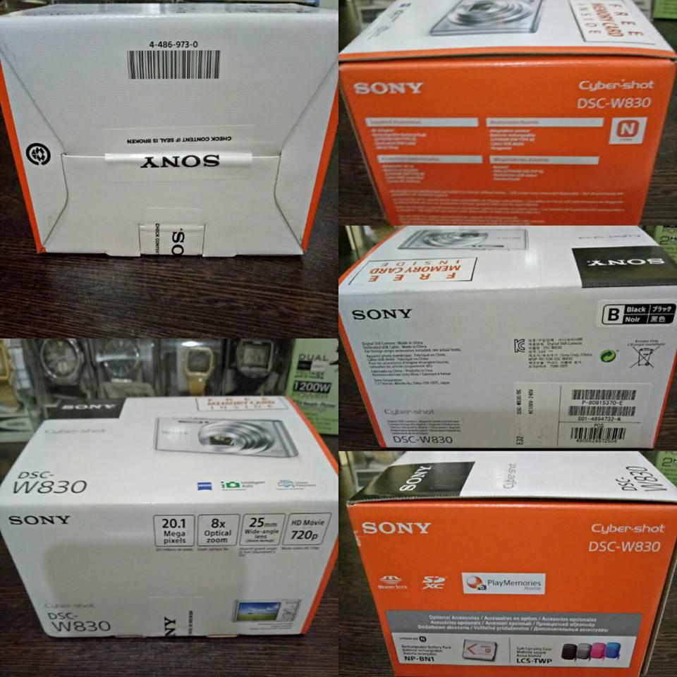 Sony DSC-W830 20.1MP 8x Optical Zoom Digital Camera (Black)