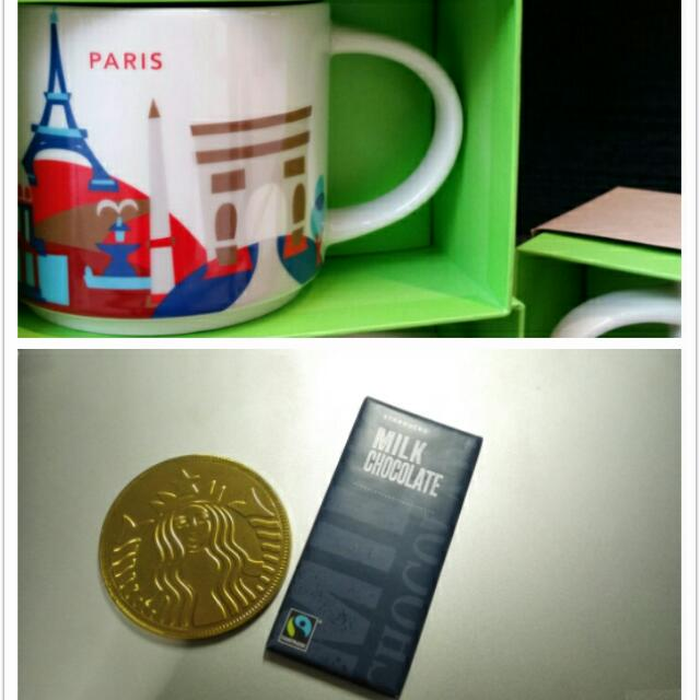 Starbucks Paris You Are Here Collection w/ Milk Chocolate Included