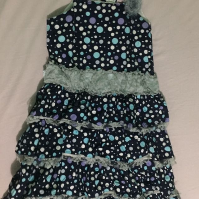 Teaberry Polkadot Dress