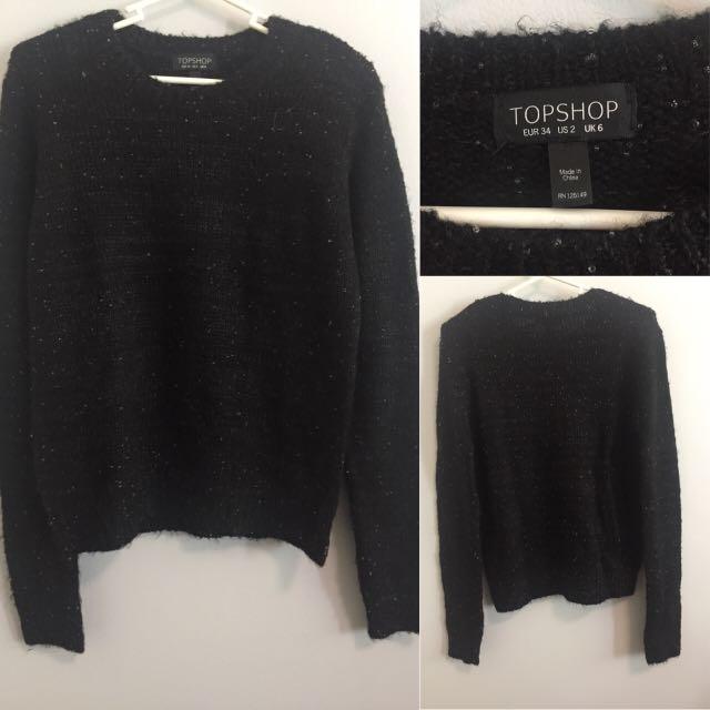 Topshop Black Sweater