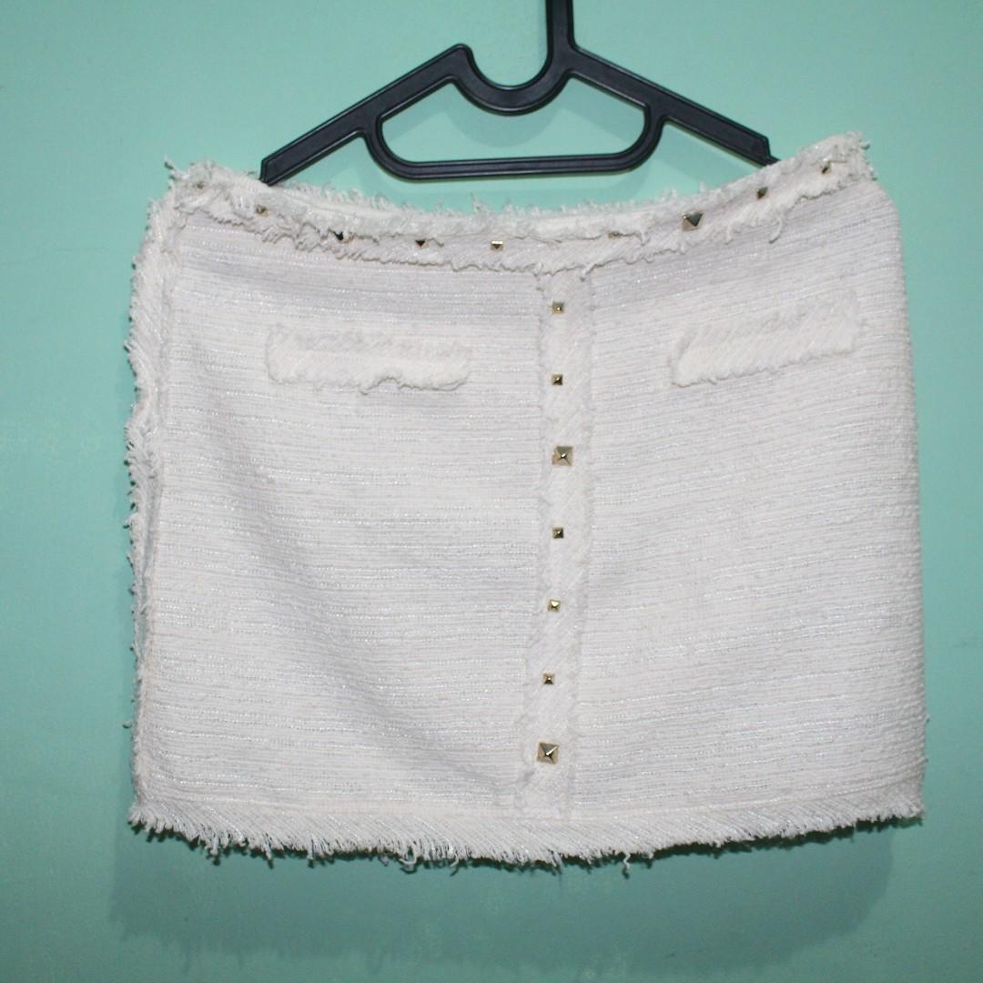 Tweed Skirt By Zara