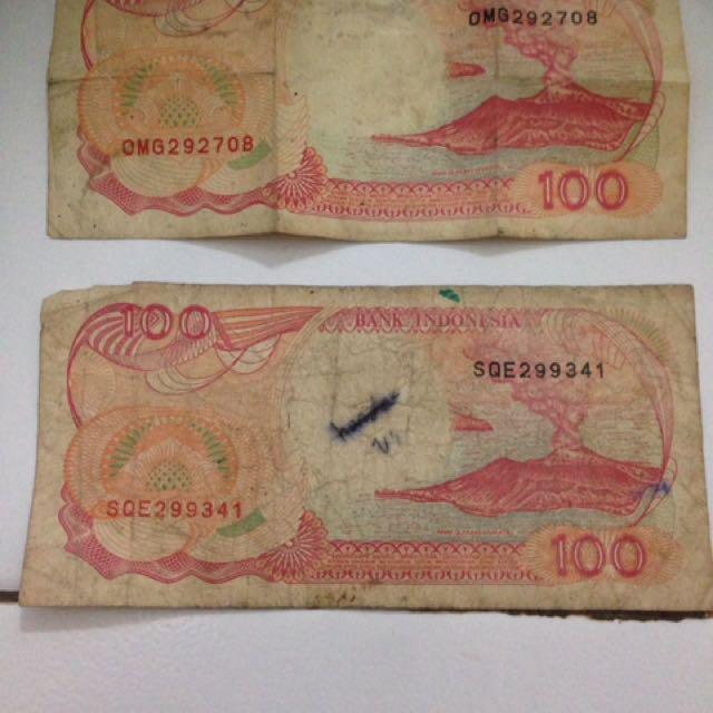 Uang Rp.100,- Perahu Pinisi 1992