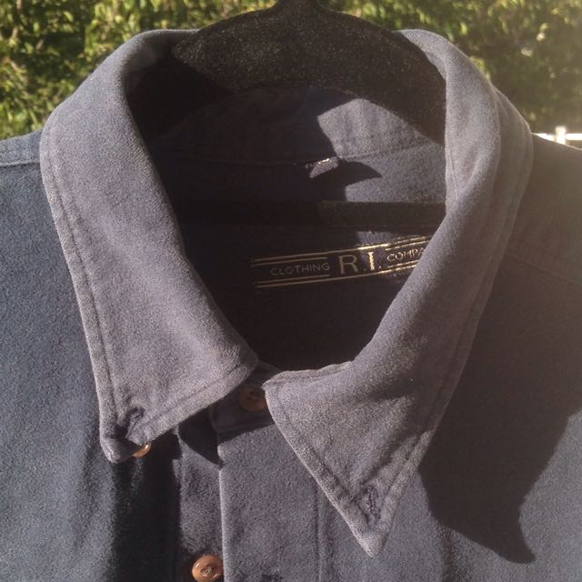 Vintage Suede Navy Shirt