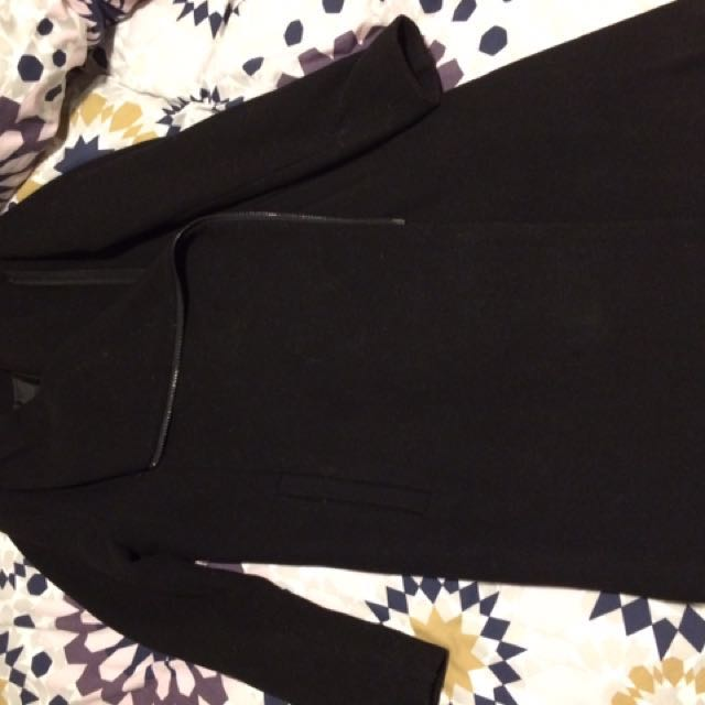 Wool Blend Coat (black)