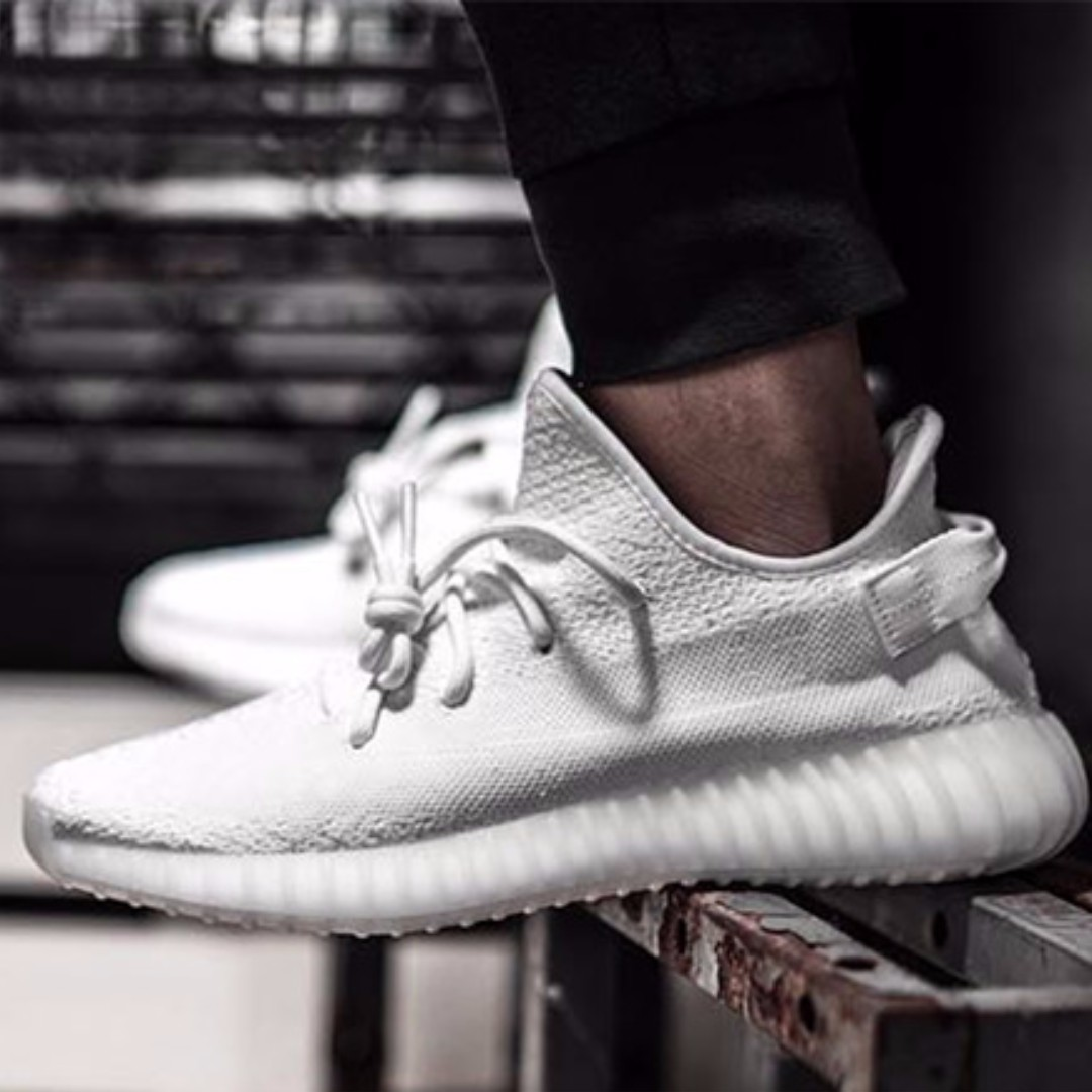 4917502e3b9 ✨PO✨ Adidas Unauthorized Authentic Yeezy Boost 350 V2 Triple White ...