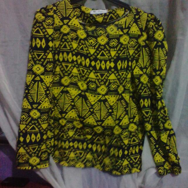 Yellow Tribal Top L
