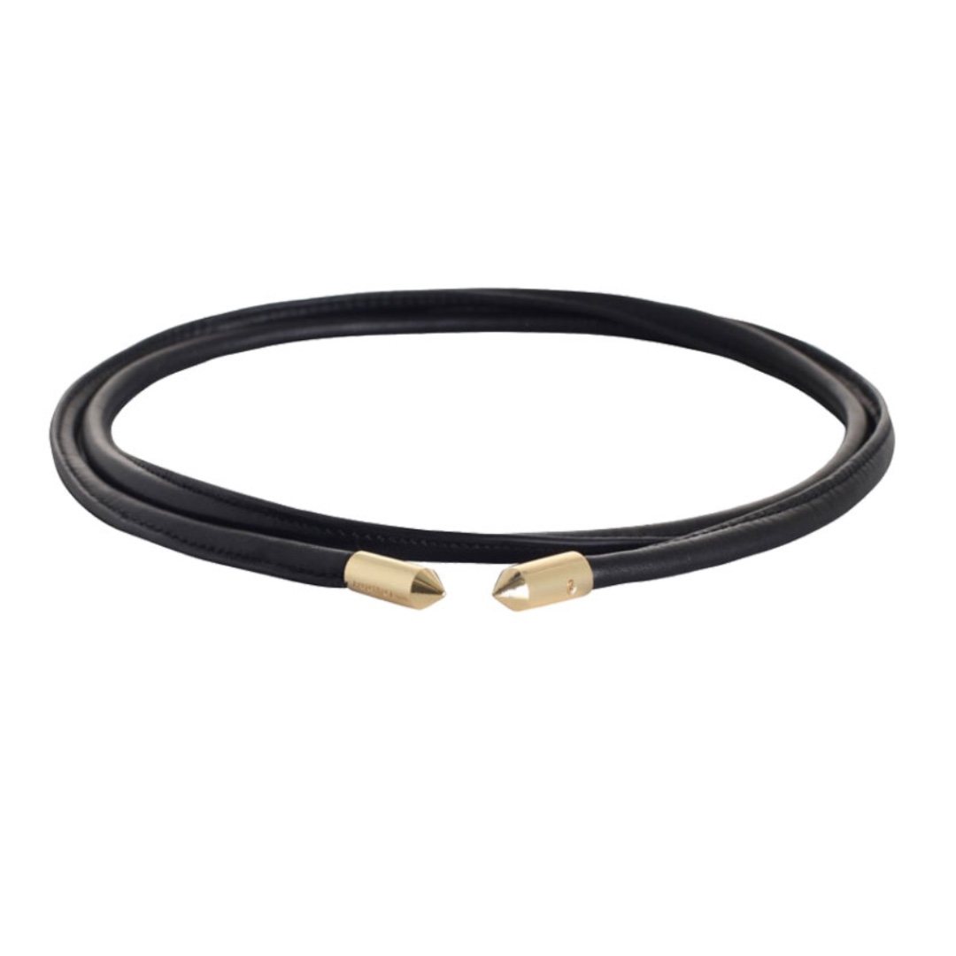 Zimmermann Leather cord belt with gold hardware
