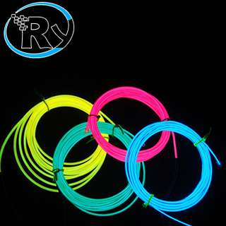 ElectroLuminescent Wire  El Wire Diameter 2.3mm Length 3m - Green
