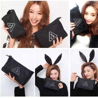 韓國3ce景點刺繡化妝包手機包收納包盥洗包零錢包