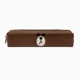LINE FRIENDS BROWN PENCIL CASE