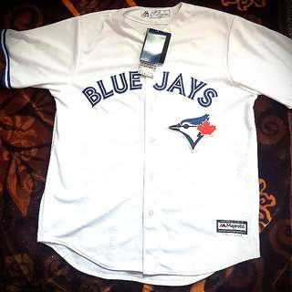Brand New Blue Jays Team White Jersey Canada Souvenir Canadian Gift Toronto Large Mens Shirt Top