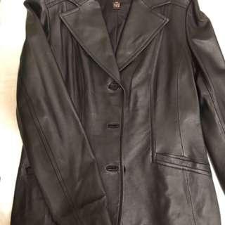Brand New Danier Black Leather Jacket