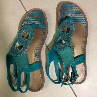 Blue Rubber Sandles