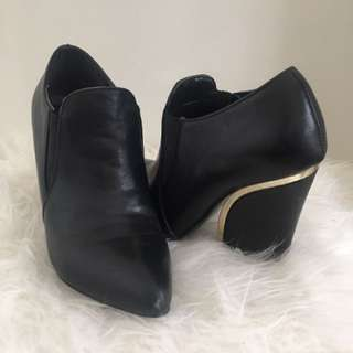 Black Heeled Booties (size 7)