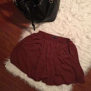 Burgundy Brandy Melville Luma Skirt