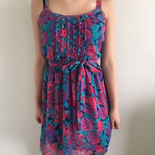 Floral Chiffon Dress (GAP, Size Small)