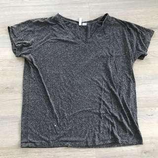 H&M Oversized V-Neck Shirt