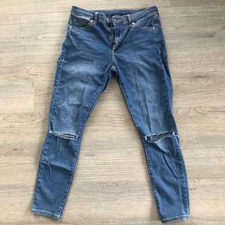 Top Shop Ripped Knees Jeans