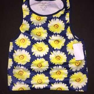 BNWT Sunflower Crop Top
