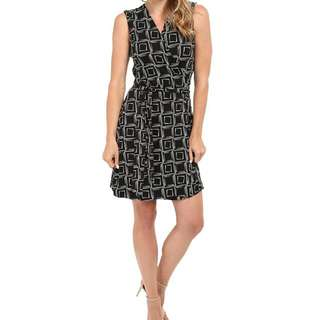 Vince Camuto Black Wrap Dress